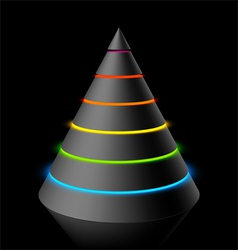 layered cone vector image