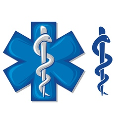 medical symbol caduceus snake vector image