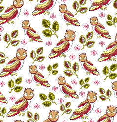 Owl Endless Seamless Pattern vector image