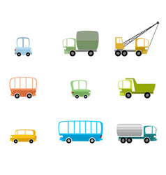 set of different vehicles vector image