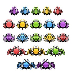 Colorful Glossy Badges vector image