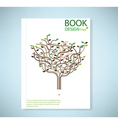 Cover report stylized tree and icon vector image