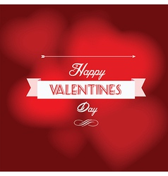 Happy Valentine s Day postcard vector image