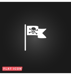 Jolly roger or skull and cross bones pirate flag vector