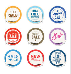 modern stickers and badges vector image