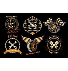 Set of racing badge vector image vector image