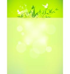 bio concept design eco friendly for summer floral vector image vector image