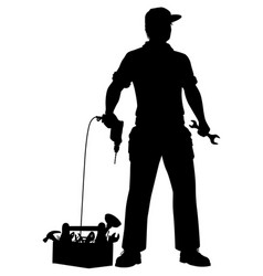 emergency repairman silhouette vector image