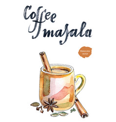 indian coffee masala vector image vector image
