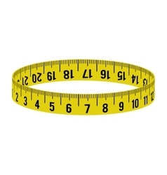 meter yellow tape measure tool icon vector image