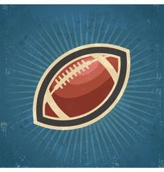 Retro American Football vector image vector image