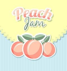 Retro peach jam vector image vector image
