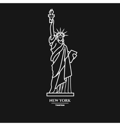 Statue of liberty Icon 1 vector image