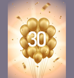 30th year anniversary background vector image
