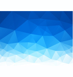 abstract blue white triangles background vector image