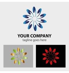 Abstract circular design logo vector