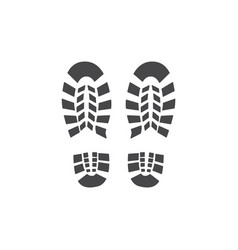 Abstract footwear flat footprint black icon vector
