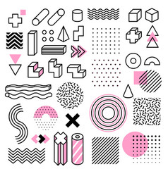 abstract geometric shapes universal trend memphis vector image