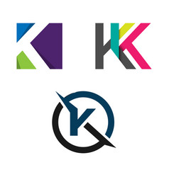 Abstract letter k logo concept vector