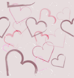 abstract seamless of hearts for valentines day vector image
