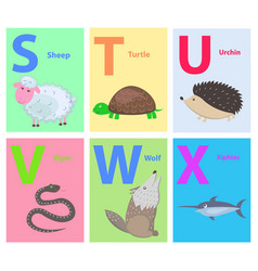 alphabet for children with animal vector image