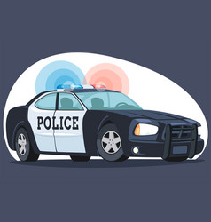 an isolated detailed image patrol police car cars vector image