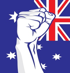 Australia fist vector image