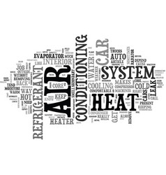 Auto hvac text word cloud concept vector