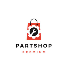 automotive spare part shop logo icon vector image