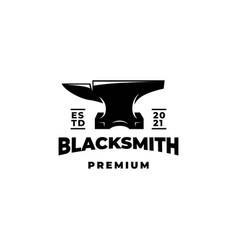 Blacksmith forge anvil logo vector