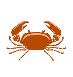 Boiled sea red crab with giant claws vector