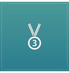 Bronze medal with ribbon vector