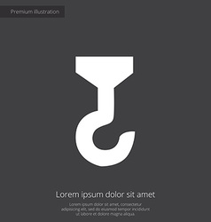 Building crane premium icon white on dark vector