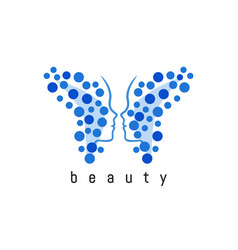 butterfly abstract logo vector image