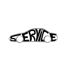 Car service or repair logo is in form of vector