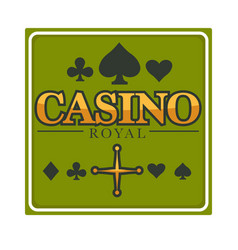 casino royal club isolated icon gambling and play vector image