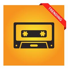 Cassette icon vector