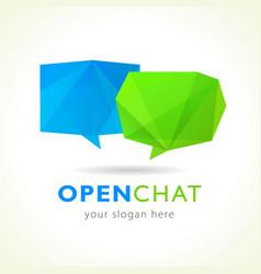 chat logo vector image