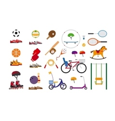 Childrens sports equipment vector