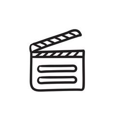 Clapboard sketch icon vector