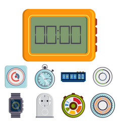 clock and watches timer colorful vector image