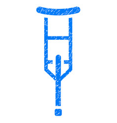 Crutch grunge icon vector