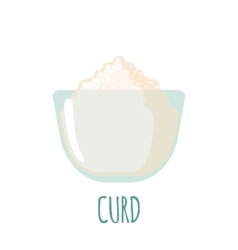 Curd icon on white background vector image