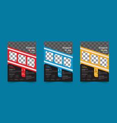 Custom and creative flyer design vector