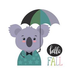cute colorful koala vector image