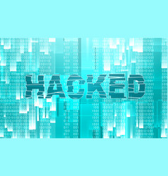 Cyber attack theme background vector