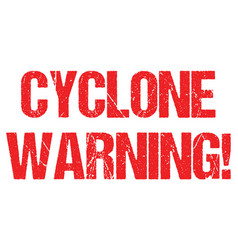 Cyclone warning hurricane weather alert typo vector