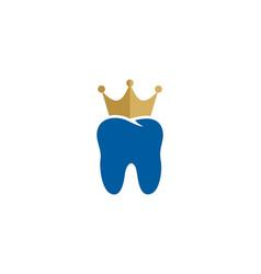 Dental king logo icon design vector