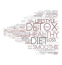 detox diet word cloud concept vector image