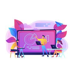 Digital classroom concept vector